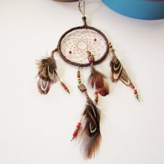 Dream Catcher Keychain by DawnsClayFantasy on Etsy, $9.50