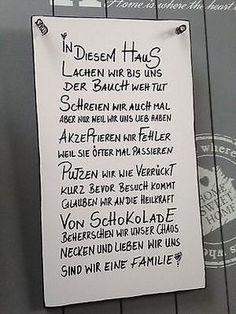 HAUSWandschild Deko Shabby Vintage Tafel Türschild in Möbel & Wohnen, Dekoration, Schilder & Tafeln   eBay!