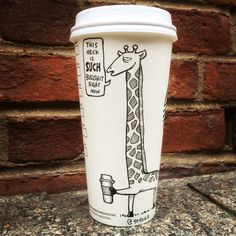 What to do when you order a takeaway venti from a coffee chain.
