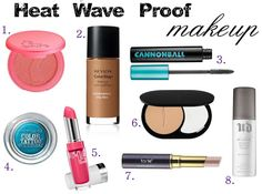 Babblings of a Mommy: Sweat-Proof Makeup To Beat The Heat Kiss Makeup, Love Makeup, Makeup Tips, Hair Makeup, Makeup Basics, Makeup Tutorials, Makeup Ideas, All Things Beauty, Beauty Make Up
