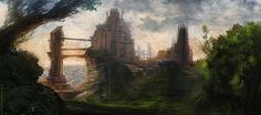 Fantasy castle environment by N7U2E on DeviantArt