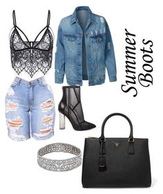 """Untitled #19"" by lesliii on Polyvore featuring Steve Madden, LE3NO and Prada"