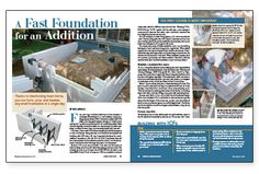 Fine Homebuidling Article - Insulated Concrete Forms for an Addition