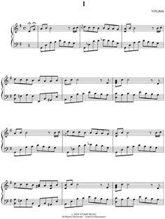 """Yiruma """"I"""" Sheet Music (Piano Solo) - Download & Print"""