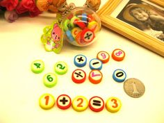 Numbers Rubber Erasers