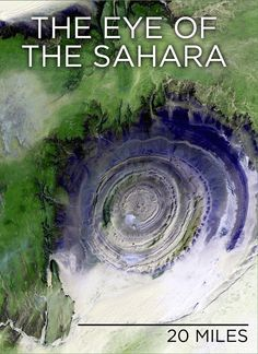 """Skunk Bear The Richat Structure or """"The Eye of the Sahara"""" is... : NPR"""