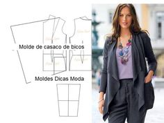 Coat Patterns, Clothing Patterns, Dress Patterns, Sewing Patterns, Fashion Sewing, Diy Fashion, Ideias Fashion, Sewing Clothes, Diy Clothes