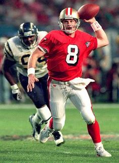 San Francisco 49ers quarterback Steve Young set the record for most TD passes in a game Super Bowl XXIX. The 49ers blew out the Chargers 49-26.