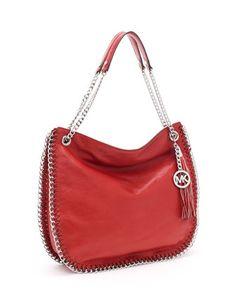 MICHAEL Michael Kors  Large Chelsea Shoulder Bag, Red.