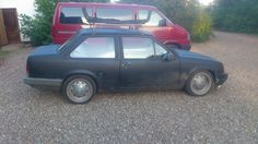 Corsa TR. Lowered and running Opel Rekord D steelwheels