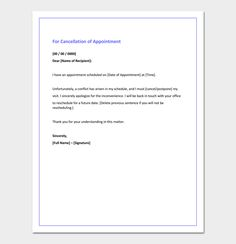 A letter of appointment is the confirmation about a job in a given 87 conference reservation cancellation letter spiritdancerdesigns Choice Image