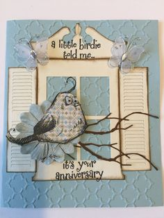 Tim Holtz crazy bird card