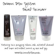 Giovanni D:Tox System Facial Skincare #Natural #Skincare #Detox #Beauty www.skinnutrition.co.uk
