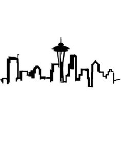 Seattle Skyline Outline but it would need Mt. Rainier too