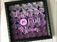 How To Make a Paper Flower Shadow box with Cricut - Modern 3d Paper Flowers, Rolled Paper Flowers, How To Make Paper Flowers, Paper Roses, Diy Flowers, Potted Flowers, Fabric Flowers, Diy Shadow Box, Shadow Box Frames
