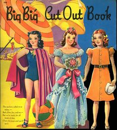 Big Big Cut Out Book pieced together - Bobe Green - Álbumes web de Picasa Paper Dolls Book, Vintage Paper Dolls, Paper Toys, Paper People, Bobe, Green Photo, Ultimate Collection, Retro Toys, Vintage Patterns