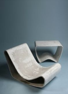 Outdoor Concrete Loop Chair | Willy Guhl | 1954