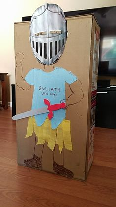 My Toddler Sunday School class is taking down Goliath today. I'm in the Lord's Army...and the Battle belongs to Him