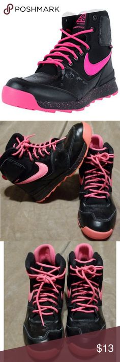 pretty nice d759f 9041a NIKE STASIS PINK AND BLACK HI TOPS Good used condition with no rips, holes  or
