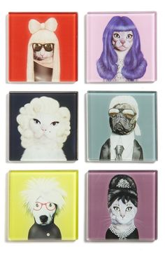 A set of pop art coasters for any purrfect hostess. | 29 Gifts That Will Trick People Into Thinking You're Fancy