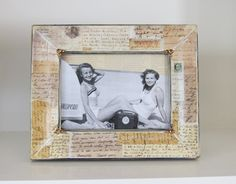 Photo Frame Swarovski BlingTravel Vintage Style by HannahBowBanna, $39.00