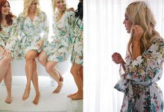 Bridesmaid gift idea: Morning robes