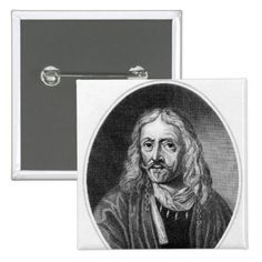 Johannes Hevelius, engraved by J. Baker Pinback Button