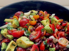 Avocado, Tomato, & Black Bean Salad With A Chili Lime Vinaigrette
