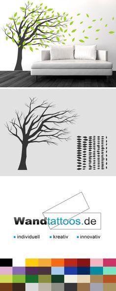 bäume anmalen als eine gute idee für wandgestaltung im badezimmer - wandgestaltung streifen ideen