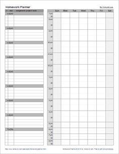 Previous Pin Said Student Planner Printable Planner - Student planner template free printable