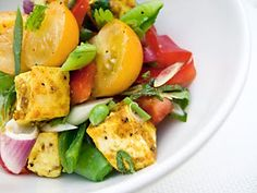 Summer Tofu Salad by sheeatsbears #Tofu #Salad #sheeatsbears
