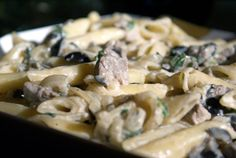 Easy Penne with Mustard-Marsala Tenderloin. If you are looking for a quick and easy meal to impress someone special, this is what you have been looking for!
