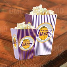 Los Angeles Lakers Sports Party Popcorn Boxes