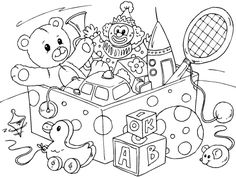 Coloring page toys