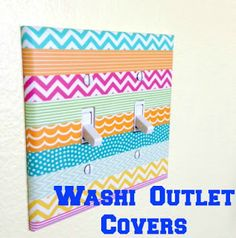 Washi Tape Outlet Covers - At Home with the Hiestands