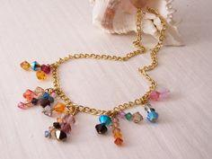 SALE  Handmade Swarovski Necklace Multi Coloured by seek2sustain