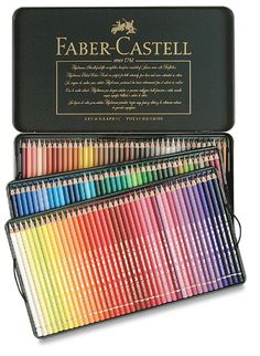 Shop Faber-Castell Polychromos Pencil Set - Assorted Colors, Set of 120 at Blick. Find everything you need for your next creative project online. Faber Castell Polychromos 120, Color Pencil Art, Coloured Pencils, Watercolor Pencils, Copics, Gel Pens, Art Supplies, School Supplies, Coloring Books