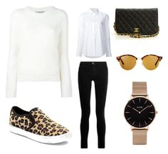 """""""San Fran Day 1"""" by lauren-burns-2 on Polyvore featuring J Brand, Misha Nonoo, Vince, Chanel, Ray-Ban and CLUSE"""