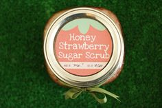 Make this quick Honey Strawberry Sugar Scrub to pamper your Valentine! - A Tried & True Project