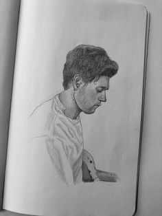 One Direction Fan Art, One Direction Drawings, Harry Styles Drawing, Naill Horan, Life Drawing, Pencil Drawings, Watercolors, Random Things, Book Art