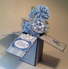 Stippled Blossom card in a box by Norma.