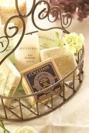 Beautiful basket with luxurious essentials for guests.