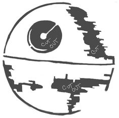 Pin for Later: 49 Free Templates For the Coolest Jack-O'Lantern on the Block Star Wars Death Star by M B