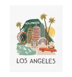 Los Angeles Illustrated Art Print