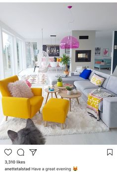Home Interior Design .Home Interior Design Living Room Decor Colors, Colourful Living Room, Design Living Room, Home Living Room, Apartment Living, Apartment Furniture, Funky Living Rooms, Furniture Cleaning, Cozy Living