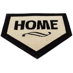 """Home"" plate welcome mat...so cute!  http://www.thegreenhead.com/2008/01/home-plate-mat.php"