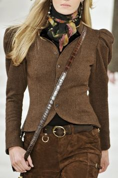 Ralph Lauren. wow, this looks just like a jacket that i made from a Vogue Ralph Lauren pattern in the late 70's.