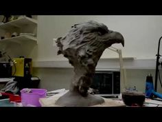 Eagle Sculpture I Industrial Clay - YouTube