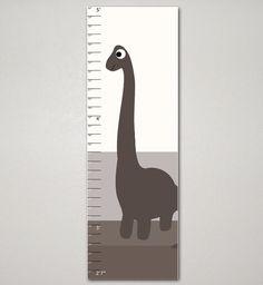 Dinosaur Growth Chart, Kids Room, Children's Art 10 X 30, Nursery, Home Decor, Art Print, Baby, Gift