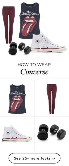 """""""Untitled #295"""" by heden-fun on Polyvore featuring 7 For All Mankind, Topshop and Converse"""
